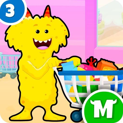 My Monster Town – Supermarket Grocery Store Games