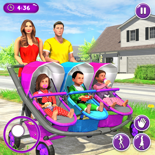 '.New Mother Baby Triplets Family Simulator.' pour pc et mac