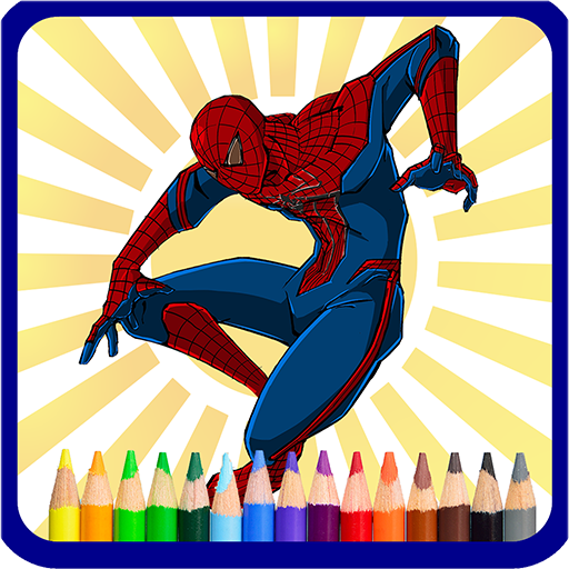 Superhero Coloring Book – Kids